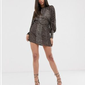 ASOS embellished mini dress
